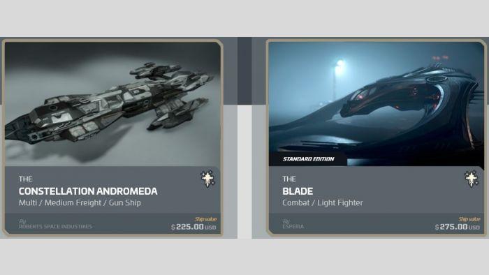 Constellation Andromeda to Blade Upgrade
