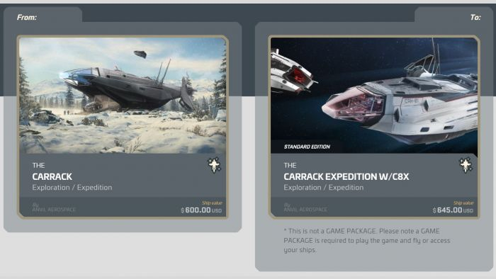 Carrack to Carrack Expedition w/ Pisces C8X Upgrade