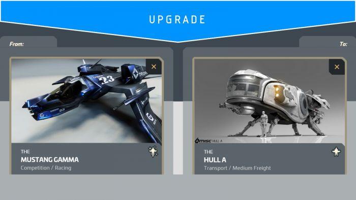 Mustang Gamma to Hull A (Upgrade)