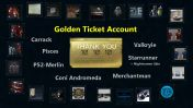 Rare Golden Ticket Account with Carrack, Merchantman, Star Runner, Valkryie, Constellation Andromeda and more