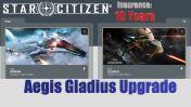 A CCU Upgrade - Anvil Arrow to Aegis Gladius w/ 10 Years Insurance