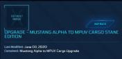 Mustang Alpha to MPUV Cargo ( CCU )