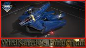 Anvil Hawk - Invictus Blue and Gold Paint
