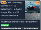 Mustang Gamma to 135C Subs.