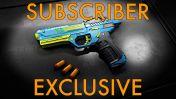 WowBlast Desperado Toy Pistol Blue - Subscriber Exclusive