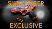 WowBlast Desperado Toy Pistol Orange - Subscriber Exclusive