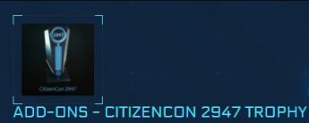 Citizencon 2947 Trophy