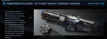 "GP-33 MOD ""Ashfall"" Grenade Launcher"