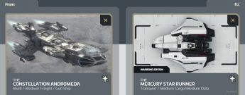 Upgrade Constellation Andromeda to Mercury Star Runner