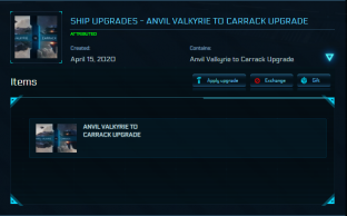 Anvil Valkyrie to Carrack Upgrade