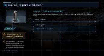 CitizenCon 2946 - Hangar Trophy