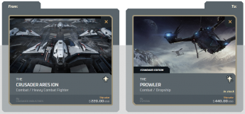 Ares Ion to Prowler Upgrade (CCU)