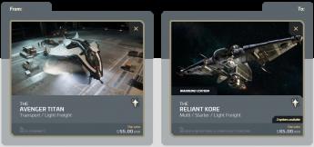 Avenger Titan to a Reliant Kore Upgrade (CCU)