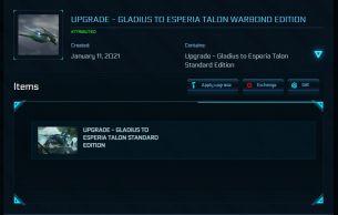 Flash Sale > Upgrade - Gladius to Esperia Talon