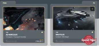 A2 Hercules to Nautilus Upgrade CCU