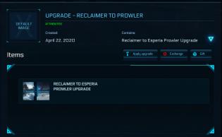 Aegis Reclaimer to prowler