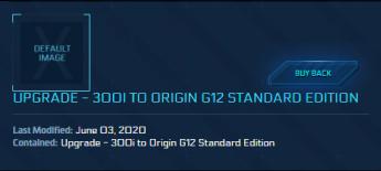 300I to Origin G12 ( CCU )