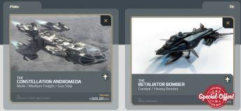 Andromeda to Aegis Retaliator Bomber Upgrade CCU