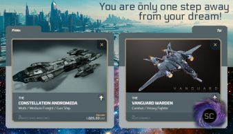 Andromeda to Vanguard Warden Upgrade CCU