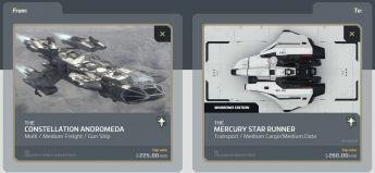Andromeda to Mercury Star Runner CCU Upgrade