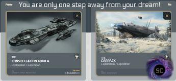 Aquila To Carrack CCU Upgrade