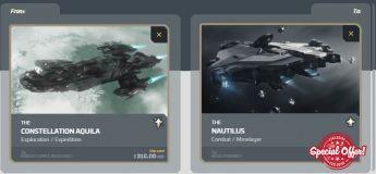 Aquila to Nautilus Upgrade CCU