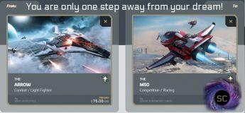 Anvil Arrow to M50 Upgrade CCU