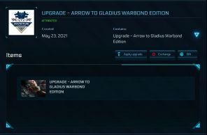 Anvil Arrow to Aegis Gladius Upgrade with 10 yrs ins!!!!!
