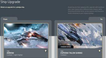 Anvil Arrow to Esperia Talon Shrike Upgrade
