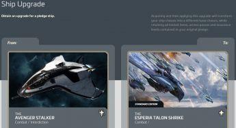 Aegis Avenger Stalker to Esperia Talon Shrike Upgrade