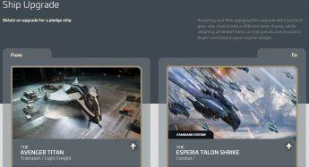 Aegis Avenger Titan to Esperia Talon Shrike Upgrade