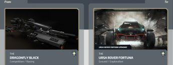 Dragonfly Black to Ursa Rover Fortuna Upgrade