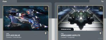 Cutlass Blue to Vanguard Hoplite Upgrade