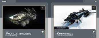 Ballista Snowblind to Retaliator Base Upgrade