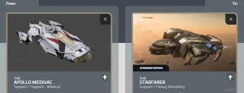 Apollo Medivac to Starfarer Upgrade