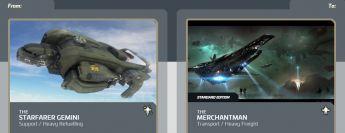 Starfarer Gemini to Merchantman Upgrade