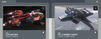 Cutlass Red to F7C-S Hornet Ghost Upgrade