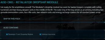 Retaliator Front Dropship Module LTI