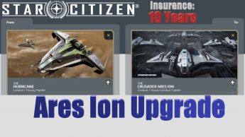 A CCU Upgrade - Anvil Hurricane to Crusader Ares Ion w/ 10 Years Insurance
