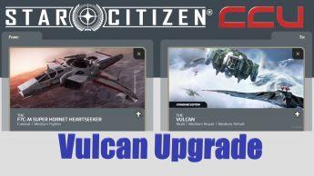 A CCU Upgrade - F7C-M Hornet Heartseeker to Aegis Vulcan