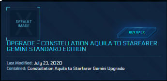 Constellation Aquila to Starfarer Gemini ( CCU )