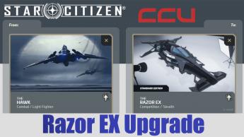 A CCU Upgrade - Anvil Hawk to MISC Razor EX