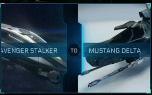 Avenger Stalker to Mustang Delta Upgrade CCU
