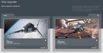 Corsair to Scorpius Upgrade CCU