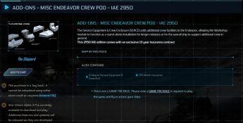 Crew Pod Module 10yrs Ins - IAE 2950