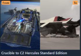 Anvil Crucible to Hercules C2 CCU