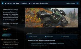 Standalone Ship - Tumbril Cyclone MT - Warbond (LTI)