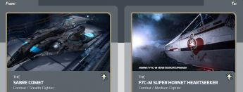Sabre Comet to F7C-M Super Hornet Heartseeker Upgrade