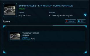 Ship Upgrades - F7A Military Hornet Upgrade (Veterans Day Hornet Upgrade)