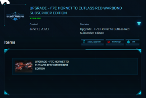 F7C Hornet to Cutlass Red Subscriber Edition